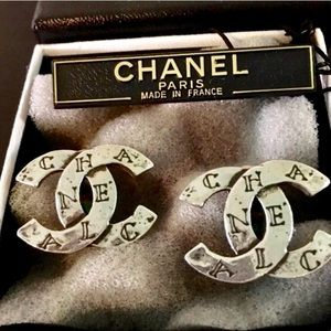 Vintage Classic Chanel CC Earrings